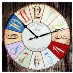 Large Canvas Wall Clock - Bistrot De Paris